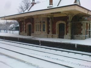 Grade II* Culham station in the snow