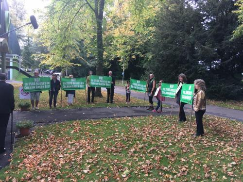 Protest at Council Meeting